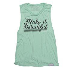 Make it Beautiful Mint Women's Flowy Muscle Tank – walk in love.