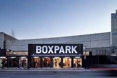 Modulair pop-up shoppen in Box Park, Londen