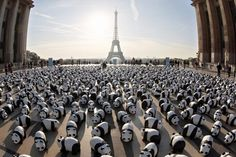 Panda's In Paris. 1600 papier mâché pandas were put on display in the centre of Paris to increase public awareness about the endangered species. The pandas, installed by members of the WWF, represent each of the remaining pandas left in the wild. Hank Moody, Panda Tour, Panda Panda, Rare Species, Endangered Species, Guerilla Marketing, Paris Ville, Land Art, French Artists