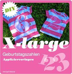 DIY: Geburtstags-Shirts, free download Zahlen