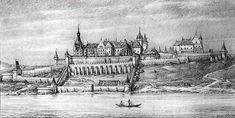 Mátyás budai vára - The Royal Palace in Buda, engraving from the 1480s