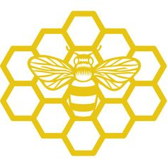 Beehive Design, Bee Design, Silhouette Projects, Silhouette Design, Bee Stencil, Stencils, Honey Jar Labels, Bee Honeycomb, Pyrography Patterns