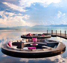 Koh Samui, vue magnique au milieu de cette #piscine #vacances