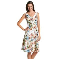 Madison Leigh® Floral Shantug Fit And Flare Dress
