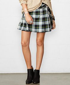 Prim and preppy for the day. Love this plaid mini. Denim & Supply Ralph Lauren Pleated Plaid Mini Skirt | Pretty Little Liars