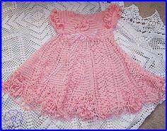DE MIS MANOS TEJIDOS Y MAS...: Vestido rosado