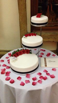 3 tire wedding cake one chocolate one vanilla one red velvet. Black Bedroom Furniture Sets. Home Design Ideas