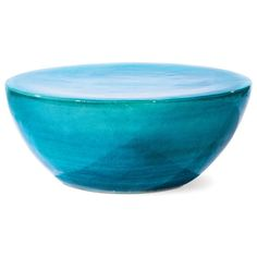 Large Tapered Indoor/Outdoor Cocktail Table - Deep Turquoise Blue