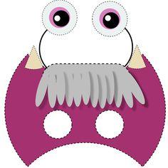Máscara de niñas monstruos Crafts, Candy Land Party, Binder
