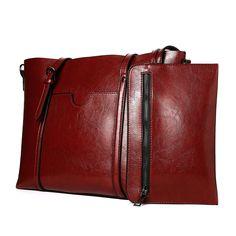 49dbc66d7c64 Women Bag Casual Vintage Shoulder Bag Handbags Cross Body Bag Large  Capacity Brown Bags Tote Purse - Redwine - CZ189W7GU9Z