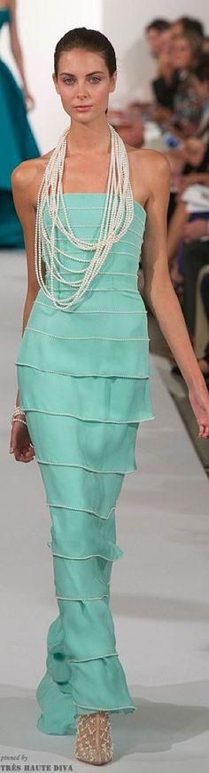 PEARLFECION ...                                                   Oscar de la Renta Spring 2014 RTW  greenmarine