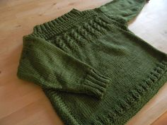 Child's sweater knit following pattern in this book: http://www.amazon.co.uk/Yourself-Simple-Knitting-Projects-Crafts/dp/1444102796