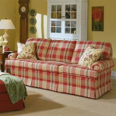 102 Stationary Sofa With Skirted Base By Smith Brothers   Miller Brothers  Furniture   Sofa West Central PA, Tricounty Area, Dubois, Punxsutawney
