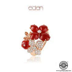#Chaumet #18K #PinkGold #Eden #Ring #Carnelian #Diamonds #Gemstones #Luxury #Style #Trendy #Fashion #Fashionista #JewelryAddict #JewelryLover #Jewelry #Jewellery