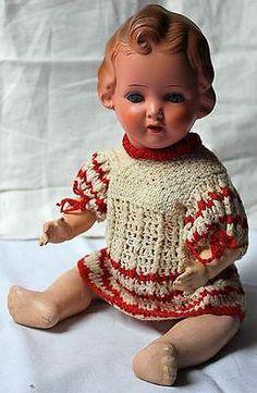 Alte Puppe Keramike Werke Gräfenhainca.1930   eBay