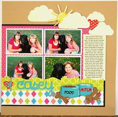 scrapbook layout scrapbooking cricut diecuts diy dps, double page
