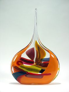 """Mango Sail""  Art Glass Vessel  Created by Bengt Hokanson and Trefny Dix"