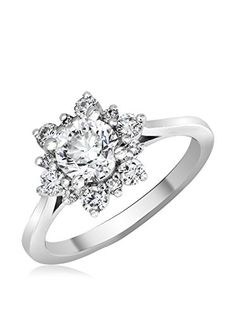 www.myhabit.com $7,129 This timeless and sparkling design features a 1.03-Ct. modified round brilliant white diamond center stone surrounded by round brilliant white diamonds arranged in a vintage-inspired starburst design; GIA diamond grade certificate included