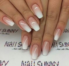 Outstanding Bridal Nails Art Designs Ideas 2018 2019 20 - Alonsa Pin World Cute Summer Nail Designs, Cute Summer Nails, Summer Design, Nagellack Design, Bridal Nail Art, Gel Nails French, Reverse French Nails, Nagel Blog, Pin On