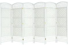 EG WICKER ROOM DIVIDER WHITE 6 PANEL HAND MADE PARTITION PRIVACY SCREEN - NEXT WORKING DAY DELIVERY: Amazon.co.uk: Kitchen & Home