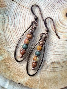 Natural+Stone+Earrings+/+Stone+Jewelry+by+Lammergeier+on+Etsy,+$20.00