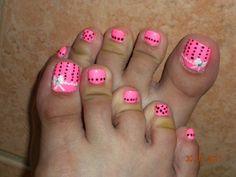 cute pink pedi