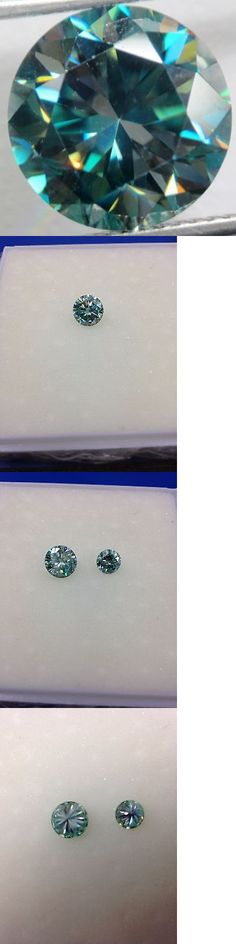 Lab-Created Diamonds 152823: 2.62 Ct 9.02Mm Vvs Vs Loose Moissanite Dark Blue Color Round Brilliant Cut -> BUY IT NOW ONLY: $39.99 on eBay!
