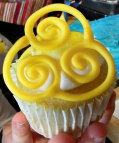 Avatar The Last Airbender cupcake - Air Nation - Dreamsicle