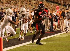 In one of the most thrilling games in college football history, Michael Crabtree and the Texas Tech Red Raiders rallied to upset UT. This was a moment many Red Raiders and the people of Lubbock will never forget.