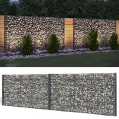 Gabione stone basket privacy anthracite stone fence Gabion fence fence in Ga . - Gabione stone basket privacy screen anthracite stone fence Gabion fence fence in garden & te -