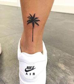 Small Palm Tree Tattoo Ankle Design 30 Super Ideas - My list of the most creative tattoo models Trendy Tattoos, Mini Tattoos, Tattoos For Guys, Small Tattoos, Feminine Tattoos, Classy Tattoos, Get A Tattoo, Back Tattoo, Wrist Tattoo