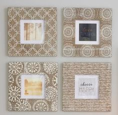 Set Of 4 Etched Pattern Frames from Next