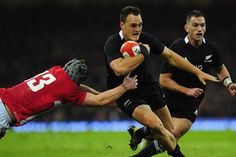 New Zealand All Blacks fullback Israel Dagg runs at the Wales defence during the International Match between Wales and New Zealand.