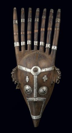 "Africa | Zoomorphic mask ""ntomo"" from the Bamana people of Mali 