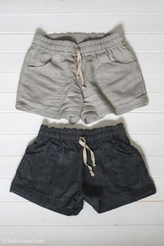 Linen parkside shorts for summer sewing sewing clothes women Short Summer Dresses, Short Outfits, Summer Outfits, Cute Outfits, Sewing Shorts, Diy Shorts, Skirt Sewing, Sewing Clothes Women, Diy Clothes