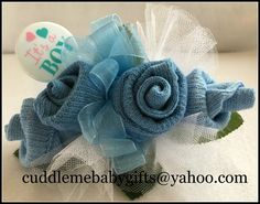 Baby Shower Baby Sock Corsage Baby Shower Decoration Baby Shower Gift by CuddleMeBabyGifts on Etsy @etsy @huggies @babiesrus