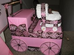 Nice Baby Shower Card Box And Diaper Cake
