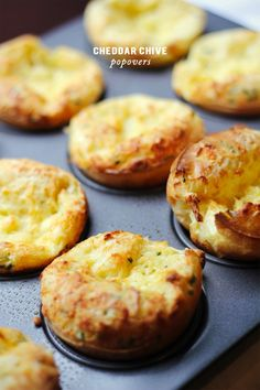 """If you're looking to amp brunch up a notch or two, <a href=""""http://clarapersis.com/""""> Clara Persis' </a> cheddar chive popovers are perfect.     <a href=""""http://www.jacquelynclark.com/2014/04/17/cheddar-chive-popovers-from-clara-persis/""""> Click here for the recipe! </a>"""