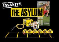 Insanity: The Asylum. Again, normally I don't like the infomercial type workout gimmicks, but this is legit. Comes with jump rope, agility ladder and bands (which break easily). You do need to provide your own weights for the strength portion. Requires a bit more space than Insanity and I definitely would recommend becoming very comfortable with Insanity before trying Asylum. It is a beast.