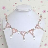 Do you want to make an elegant crystal necklace for wedding party or wedding gifts? In this tutorial, I will share you how to make crystal necklace. Hope you will like it!