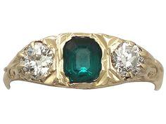 0.44 ct Emerald and 0.42 ct Diamond, 18 ct Yellow Gold Ring - Antique Circa 1910  SKU: A1332 Price  GBP £1,395.00  http://www.acsilver.co.uk/shop/pc/0-44-ct-Emerald-and-0-42-ct-Diamond-18-ct-Yellow-Gold-Ring-Antique-Circa-1910-175p6864.htm#.VbYIPPlmqzQ