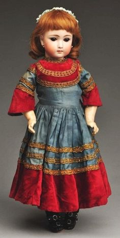 148: Early German Bisque Child Doll. : Lot 148