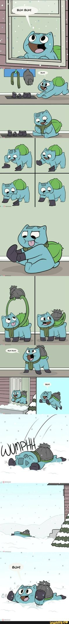 Bulbasaur is just the cutest Pokemon ever! Pokemon Comics, Pokemon Funny, Pokemon Memes, Pokemon Fan Art, Pokemon Go, Pokemon Bulbasaur, Pikachu Pikachu, Digimon, Pokemon Mignon