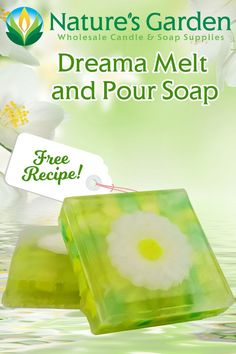 Free Flower embed Melt and Pour Soap Recipe by Natures Garden