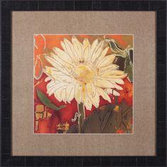 Gerber Garden I by Lisa Snow Lady Framed Painting Print