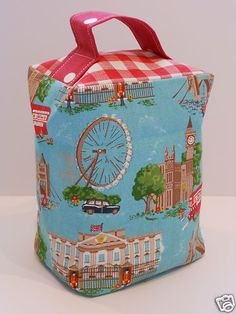 DOORSTOP in Cath Kidston fabrics London and Laura Ashley Red Gingham