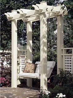 Garden swing with arbor