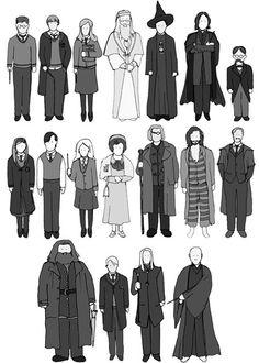 ilustrações de harry potter - Pesquisa Google