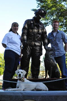 This statue was created to recognize the incredible contributions of all arson dogs. | 20 Dogs Who Do Incredible Work ForHumans