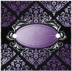 purple & blk damask - with diamond accented middle frame - uploaded by Lynn White